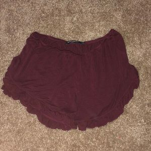 Brandy Melville Red flowy shorts